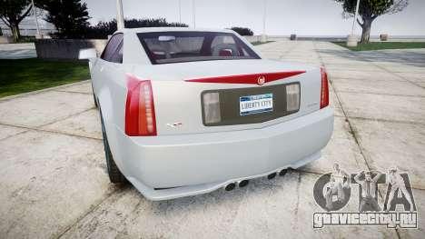 Cadillac XLR-V 2009 для GTA 4 вид сзади слева