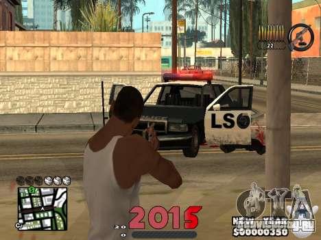 CLEO HUD New Year 2015 для GTA San Andreas четвёртый скриншот