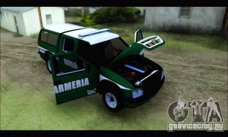 Chevrolet S-10 Gendarmeria для GTA San Andreas вид сзади