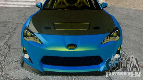 Subaru BRZ Drift Built для GTA San Andreas вид сзади