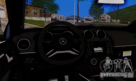 Mercedes-Benz ML63 AMG для GTA San Andreas вид изнутри
