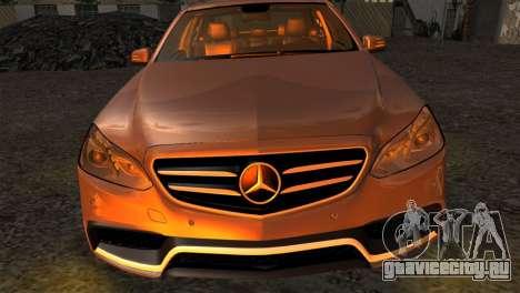 Mercedes-Benz E63 AMG 2014 для GTA San Andreas вид справа