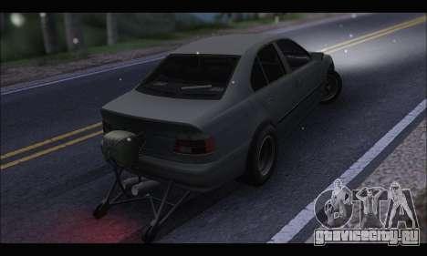 BMW e39 Drag Version для GTA San Andreas вид сзади слева