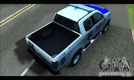 Ford Ranger P.B.A 2015 Text4 для GTA San Andreas вид сзади слева