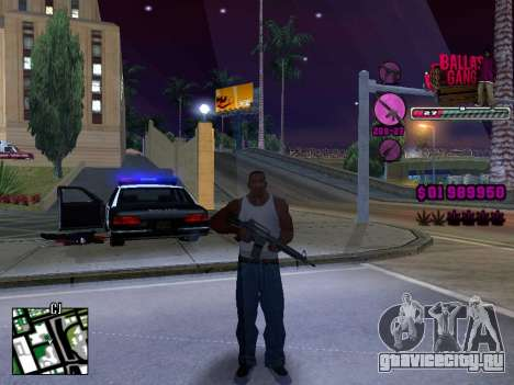 C-HUD Ballas TAWER для GTA San Andreas