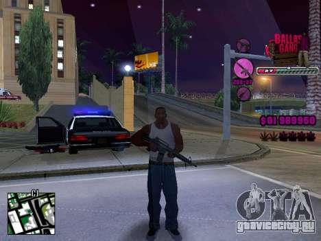 C-HUD Ballas TAWER для GTA San Andreas