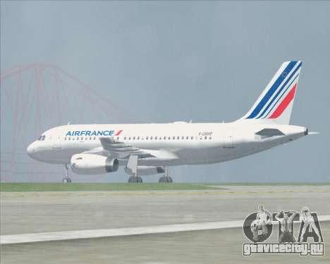 Airbus A319-100 Air France для GTA San Andreas колёса