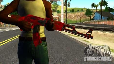 AK47 with Blood для GTA San Andreas третий скриншот