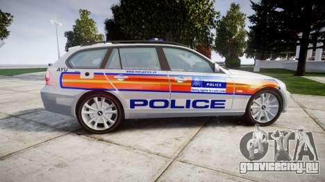 BMW 325d E91 2009 Metropolitan Police [ELS] для GTA 4 вид слева
