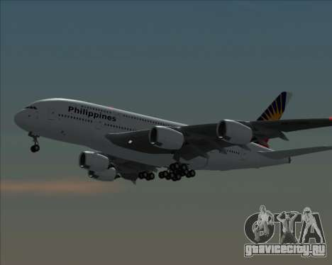 Airbus A380-800 Philippine Airlines для GTA San Andreas вид сзади слева