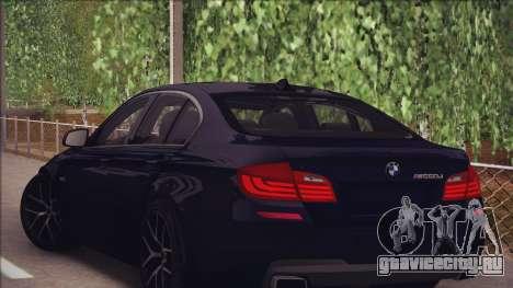 BMW M550d 2014 для GTA San Andreas вид справа
