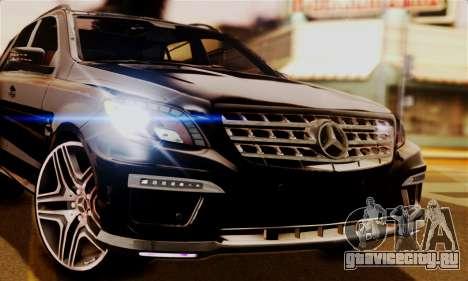 Mercedes-Benz ML63 AMG для GTA San Andreas вид сзади слева