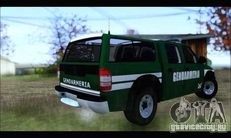 Chevrolet S-10 Gendarmeria для GTA San Andreas вид сзади слева