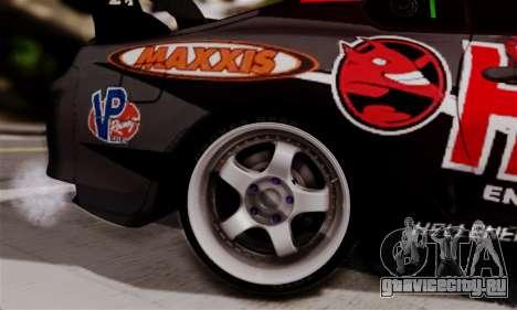Toyota Supra HELL DT для GTA San Andreas вид сзади слева