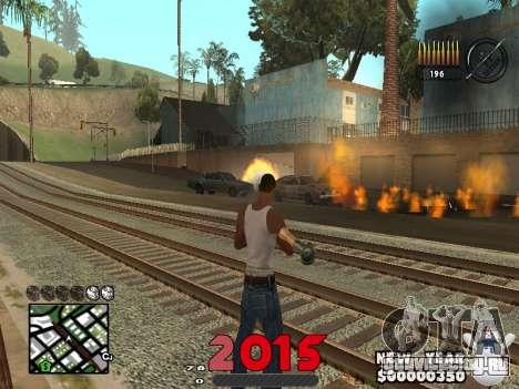 CLEO HUD New Year 2015 для GTA San Andreas второй скриншот