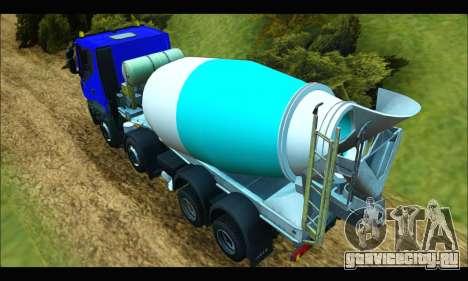 Iveco Trakker 2014 Concrete для GTA San Andreas вид сзади слева
