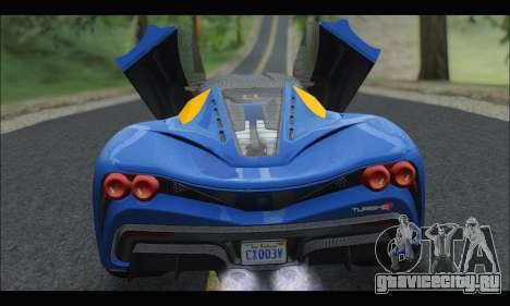Grotti Turismo R v2 (GTA V) для GTA San Andreas вид справа