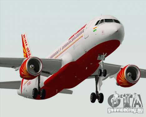 Airbus A320-200 Air India для GTA San Andreas двигатель