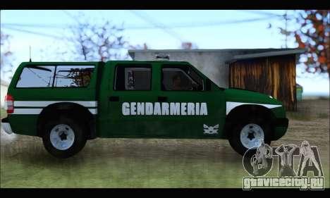 Chevrolet S-10 Gendarmeria для GTA San Andreas вид слева