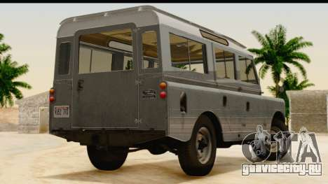 Land Rover Series IIa LWB Wagon 1962-1971 [IVF] для GTA San Andreas вид слева