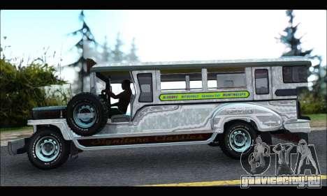 Sarao Stainless для GTA San Andreas вид слева