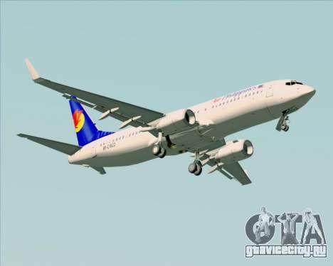 Boeing 737-800 Air Philippines для GTA San Andreas вид сверху