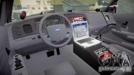 Ford Crown Victoria Highway Patrol [ELS] Slickto для GTA 4 вид сзади