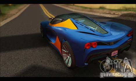 Grotti Turismo R v2 (GTA V) для GTA San Andreas вид сзади слева