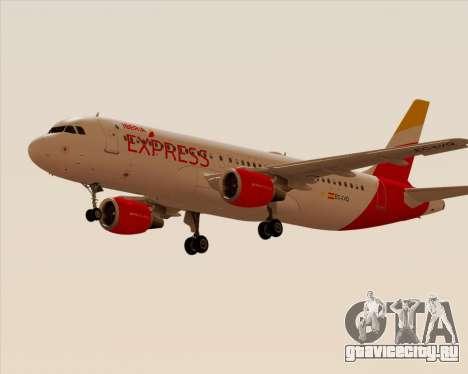 Airbus A320-200 Iberia Express для GTA San Andreas вид сзади слева