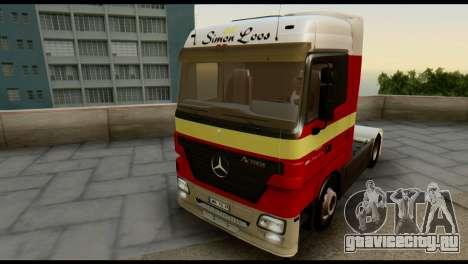 Mercedes-Benz Actros PJ1 для GTA San Andreas вид сбоку