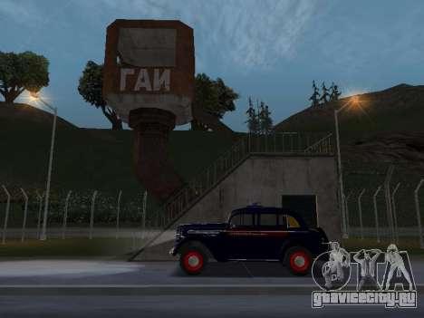 Москвич 400 Милиция для GTA San Andreas вид справа