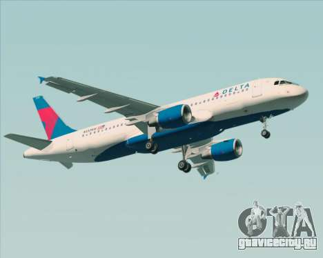Airbus  A320-200 Delta Airlines для GTA San Andreas вид сзади слева
