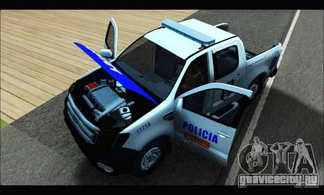Ford Ranger P.B.A 2015 Text4 для GTA San Andreas вид сзади
