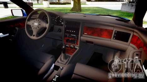 Audi 80 Cabrio us tail lights для GTA 4 вид изнутри