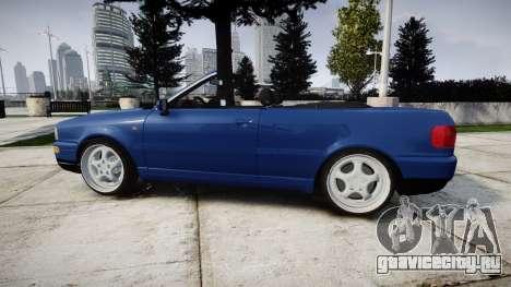 Audi 80 Cabrio us tail lights для GTA 4 вид слева