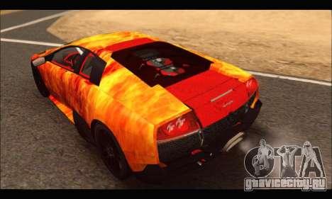 Lamborghini Murcielago In Flames для GTA San Andreas вид справа