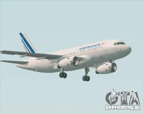 Airbus A319-100 Air France для GTA San Andreas вид сверху