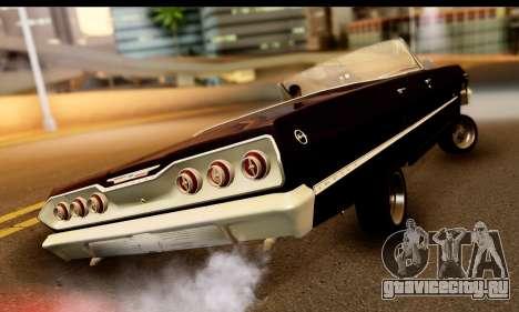 Chevrolet Impala 1963 для GTA San Andreas вид сзади слева