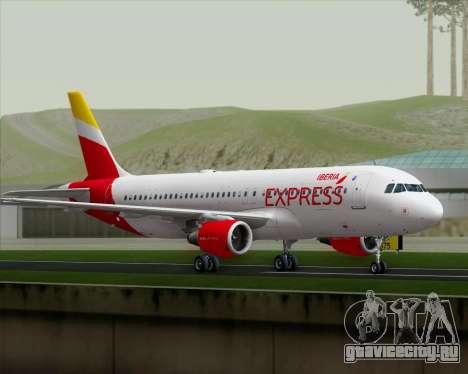 Airbus A320-200 Iberia Express для GTA San Andreas вид справа