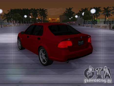 Saab 95 для GTA San Andreas вид снизу