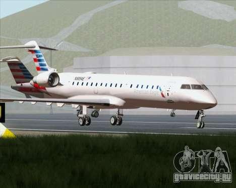 Bombardier CRJ700 American Eagle Airlines для GTA San Andreas вид сверху