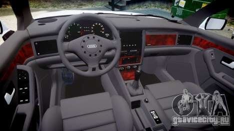 Audi 80 Cabrio euro tail lights для GTA 4 вид изнутри
