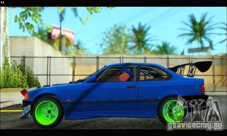 BMW e36 Drift Edition Final Version для GTA San Andreas вид сзади слева