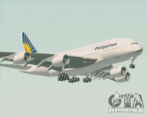 Airbus A380-800 Philippine Airlines для GTA San Andreas вид сзади