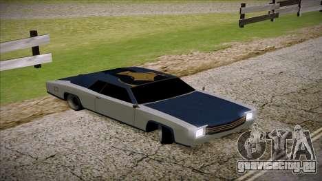Buccaneer 2.0 для GTA San Andreas вид сзади слева