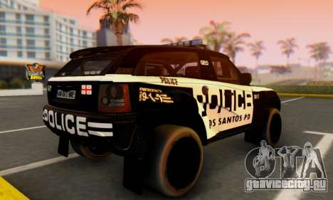 Bowler EXR S 2012 v1.0 Police для GTA San Andreas вид слева