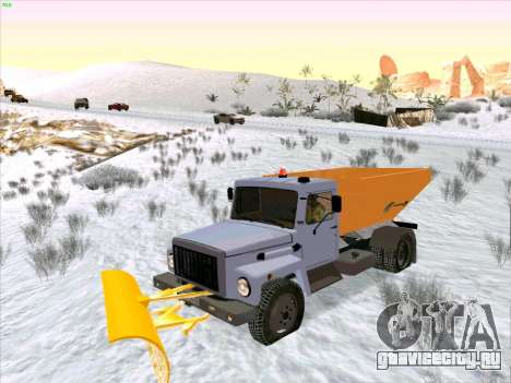 ГАЗ 3309 Снегоуборочная для GTA San Andreas вид сзади