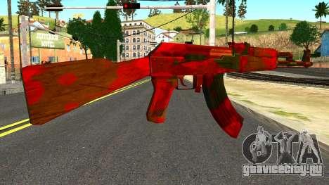 AK47 with Blood для GTA San Andreas второй скриншот