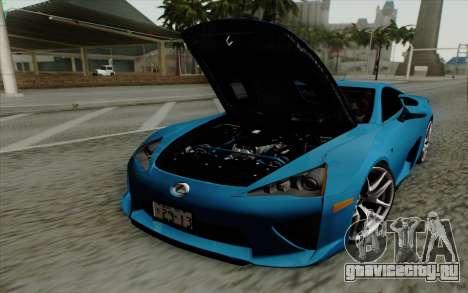 Lexus LF-A 2010 для GTA San Andreas вид справа