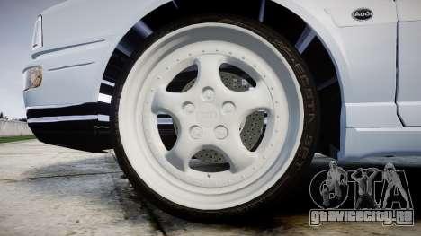 Audi 80 Cabrio euro tail lights для GTA 4 вид сзади